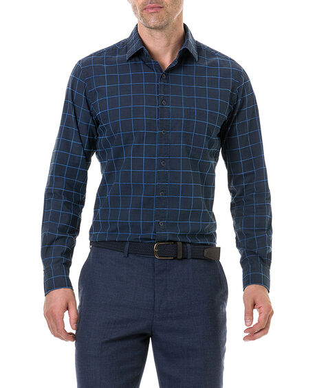 Hindley Creek Sports Fit Shirt, NAVY, hi-res