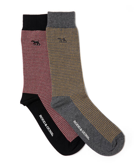 Olivers Place Two Pack Sock/Multi 0, MULTI, hi-res
