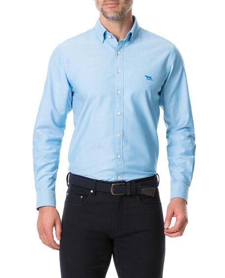 Vincent Street Sports Fit Shirt, TEAL, hi-res