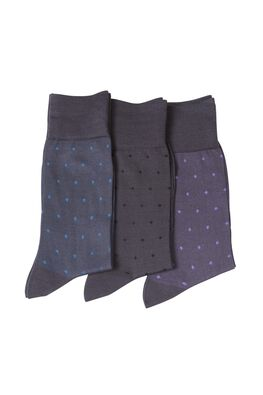 Rosina Fell Lane Three Pack Sock, ASH, hi-res