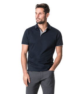 Alton Valley Sports Fit Polo, MIDNIGHT, hi-res