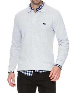 Long Sleeve Gunn Polo, ASH, hi-res