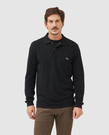 Long Sleeve Gunn Polo, ONYX, hi-res