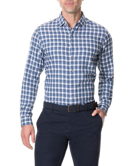 Monaghan Sports Fit Shirt, INDIGO, hi-res