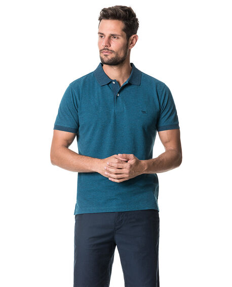 New Haven Sports Fit Polo, TEAL, hi-res