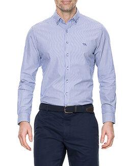 Baxter Street Sports Fit Shirt, ROYAL, hi-res