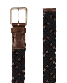 Stump Bay Woven Belt/Marine ME, MARINE, hi-res