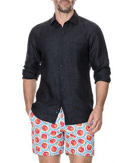 Landsdown Sports Fit Shirt, CHARCOAL, hi-res