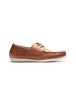 Ostend Road Boat Shoe, TAN, hi-res