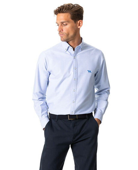 North Island Oxford Sports Fit Shirt, SKY, hi-res