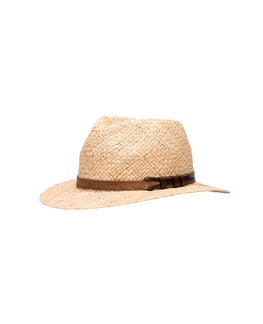 Piemelon Bay Straw Hat, NATURAL, hi-res