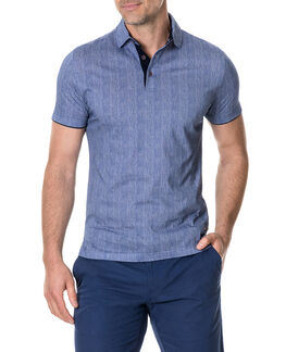 Spence Crescent Sports Fit Polo, OCEAN, hi-res