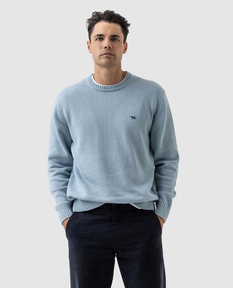 Gunn Crew Knit, EGGSHELL BLUE, hi-res