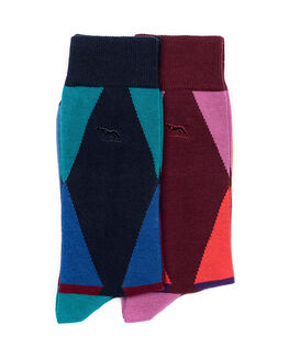 Beach Street Two Pack Sock/Coral Sea 0, CORAL SEA, hi-res
