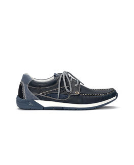 Ashworths Spit Boat Shoe, NAVY, hi-res