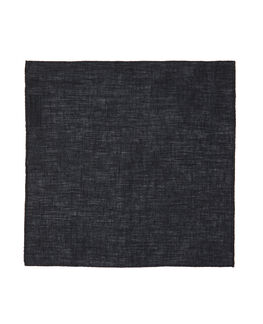 Chancery Street Pocket Square, CHARCOAL, hi-res