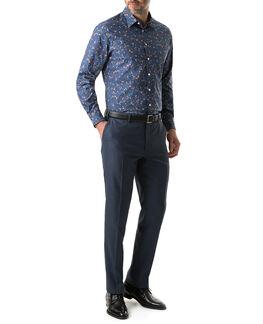 Cheshire Sports Fit Shirt/Navy XS, NAVY, hi-res