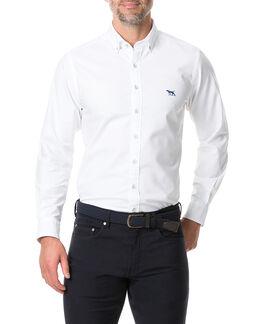 Vincent Street Sports Fit Shirt, WHITE, hi-res