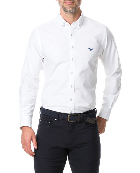 Vincent Street Sports Fit Shirt, WHITE, hi-res