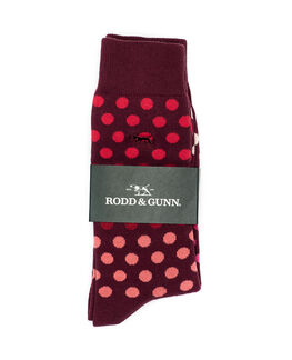 Findlay Road Two Pack Sock/Maroon 0, MAROON, hi-res
