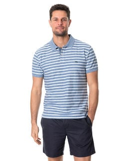 Huntly West Sports Fit Polo, MARBLE, hi-res