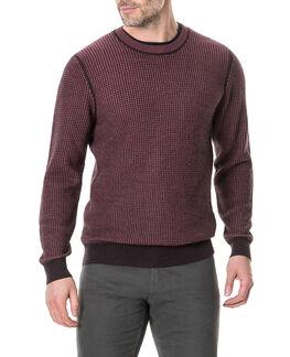 Wilberforce Sweater, BURGUNDY, hi-res