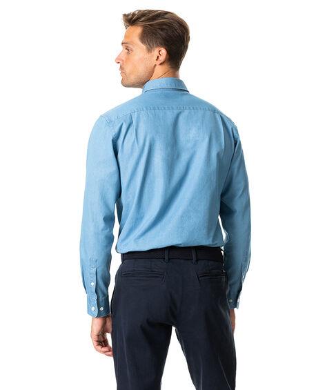 Meadowpoint Sports Fit Shirt, DENIM, hi-res
