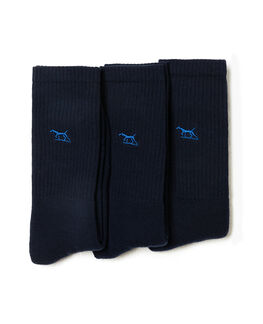 Gunner Three Pack Sock, NAVY, hi-res