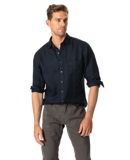 Tindalls Beach Sports Fit Shirt/Midnight XS, MIDNIGHT, hi-res