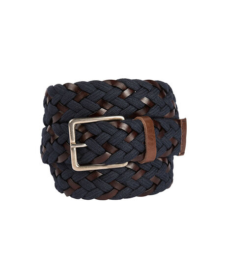 Stump Bay Woven Belt, MARINE, hi-res