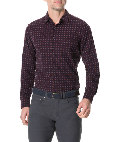 Menzies Sports Fit Shirt, MULBERRY, hi-res