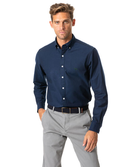 North Island Oxford Sports Fit Shirt, NAVY, hi-res