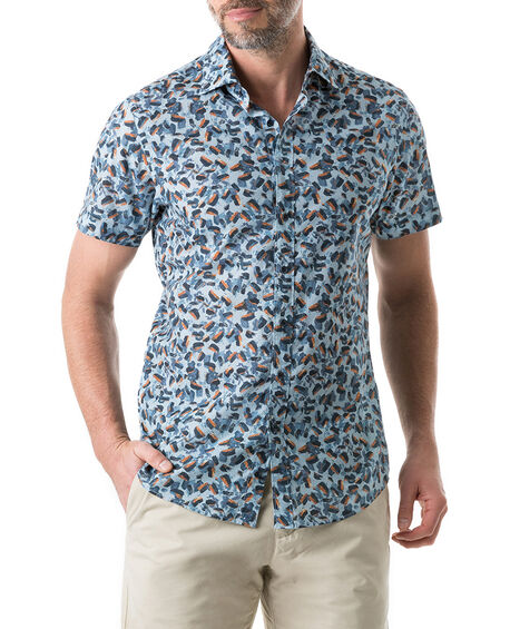 Cape Wanbrow Sports Fit Shirt, STONEWASH, hi-res