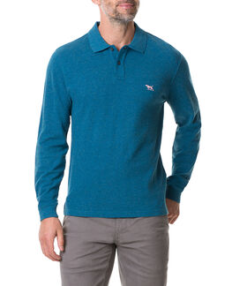 Long Sleeve Gunn Polo, STORM, hi-res