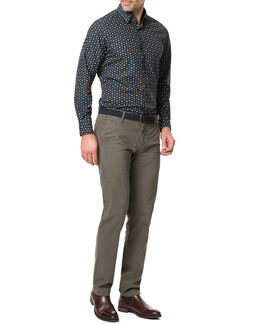 Freyberg Sports Fit Shirt/Navy XS, NAVY, hi-res
