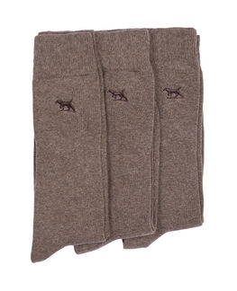 Dry Plains Three Pack Socks, EARTH, hi-res