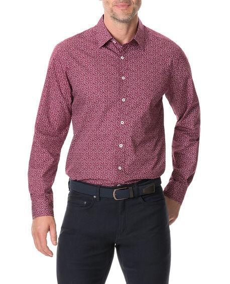 Longbeach Sports Fit Shirt, BORDEAUX, hi-res