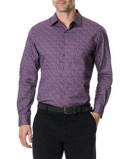 Scotland Street Sports Fit Shirt, MERLOT, hi-res