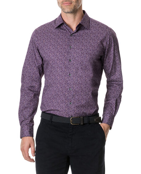 Scotland Street Sports Fit Shirt, MERLOT, hi-res
