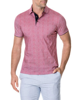 Spence Crescent Sports Fit Polo, CRANBERRY, hi-res