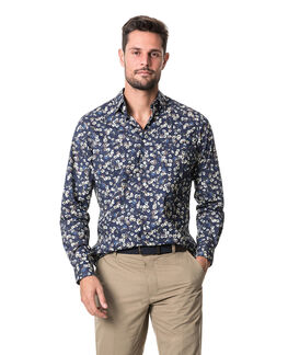 Rossmore Sports Fit Shirt/Indigo XS, INDIGO, hi-res