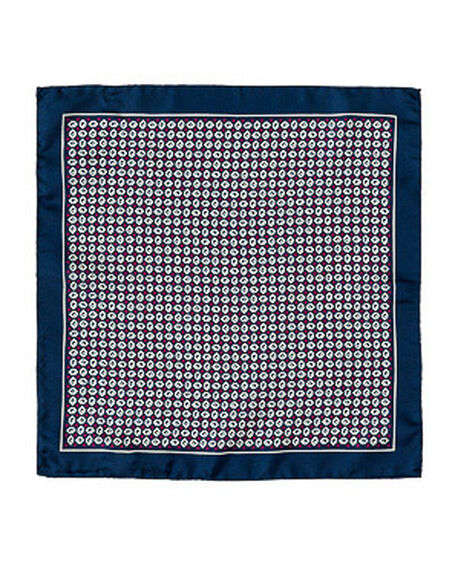 Felden Street Pocket Square/Marine, MARINE, hi-res