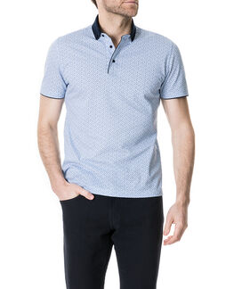 Evans Bay Sports Fit Polo/Chambray LG, CHAMBRAY, hi-res