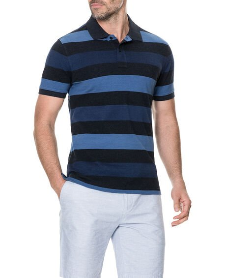 Hutt Valley Sports Fit Polo, NAVY, hi-res