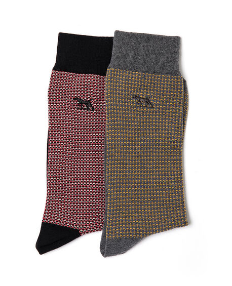 Olivers Place Two Pack Sock, MULTI, hi-res
