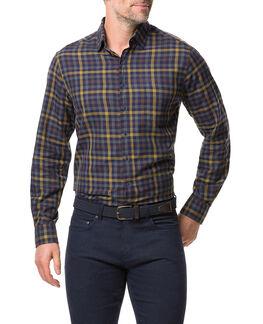 Stanaway Sports Fit Shirt, MUSTARD, hi-res