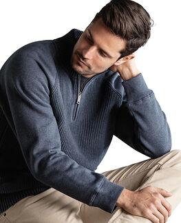 Rabbit Island Sweater, DEEP OCEAN, hi-res