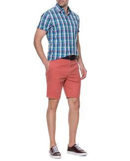 Glenburn Slim Fit Short, RED OCHRE, hi-res