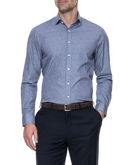 Waithman Tailored Shirt/Navy 38/XS, NAVY, hi-res