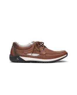 Ashworths Spit Boat Shoe, MAHOGANY, hi-res